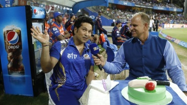 Sachin Tendulkar celebrated his 44th birthday in front of a doting Wankhede crowd