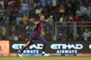 Imran Tahir is thrilled after dismissing Kieron Pollard, Mumbai Indians v Rising Pune Supergiant, IPL 2017, Mumbai, April 24, 2017