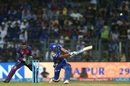 Rohit Sharma slog sweeps for six, Mumbai Indians v Rising Pune Supergiant, IPL 2017, Mumbai, April 24, 2017
