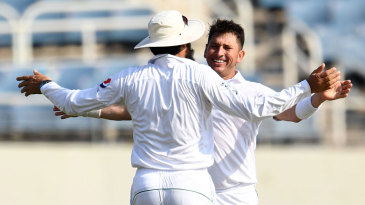 Yasir Shah struck with his first ball