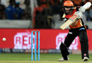 Kane Williamson plays one on the off side, Sunrisers Hyderabad v Delhi Daredevils, IPL 2017, Hyderabad, April 19, 2017