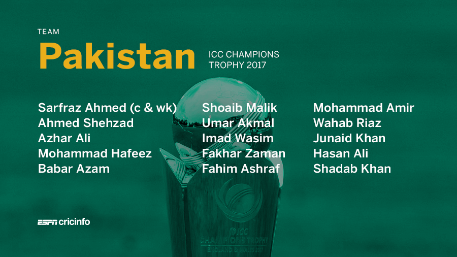 ICC Champions Trophy: Pakistan give comebacks to Azhar Ali and Umar Akmal