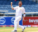 Yasir Shah celebrates his ninth Test five-for, West Indies v Pakistan, 1st Test, Jamaica, 5th day, April 25, 2017