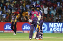 Ajinkya Rahane and Rahul Tripathi put on 65 runs for the opening wicket, Kolkata Knight Riders v Rising Pune Supergiant, IPL 2017, Pune, April 26, 2017