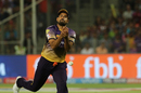 Yusuf Pathan dropped Rahul Tripathi while running back from midwicket, Kolkata Knight Riders v Rising Pune Supergiant, IPL 2017, Pune, April 26, 2017