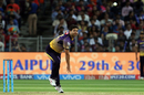 Piyush Chawla in his follow through, Kolkata Knight Riders v Rising Pune Supergiant, IPL 2017, Pune, April 26, 2017
