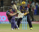 Steven Smith bunts one away to the leg side, Kolkata Knight Riders v Rising Pune Supergiant, IPL 2017, Pune, April 26, 2017