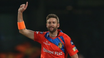 Andrew Tye struck twice in two balls to derail Royal Challengers Bangalore's innings