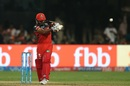 Kedar Jadhav pulls a short-pitched delivery, Royal Challengers Bangalore v Gujarat Lions, IPL 2017, Bengaluru, April 27, 2017