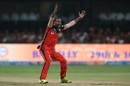 Samuel Badree successfully appeals for an lbw, Royal Challengers Bangalore v Gujarat Lions, IPL 2017, Bengaluru, April 27, 2017