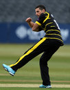 Benny Howell celebrates with a flourish, Gloucestershire v Glamorgan, Royal London Cup, South Group, Bristol, April 27, 2017