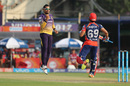 Sunil Narine was elated after trapping Karun Nair lbw, Kolkata Knight Riders v Delhi Daredevils, IPL 2017, Kolkata, April 28, 2017