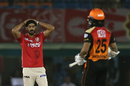Anureet Singh reacts in the field, Kings XI Punjab v Sunrisers Hyderabad, IPL 2017, Mohali, April 28, 2017