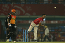 KC Cariappa bowls a knuckle ball, Kings XI Punjab v Sunrisers Hyderabad, IPL 2017, Mohali, April 28, 2017