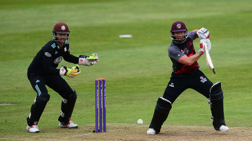Roelof van der Merwe produced an astonishing hundred to rescue Somerset from 22 for 5