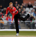 James Sykes collected a four-wicket haul, Lancashire v Leicestershire, Royal London Cup, North Group, Old Trafford, April 28, 2017