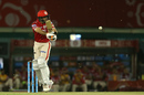 Glenn Maxwell chips one in the direction of short fine leg, Kings XI Punjab v Sunrisers Hyderabad, IPL 2017, Mohali, April 28, 2017
