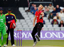 Zak Chappell took the new ball for Leicestershire, Lancashire v Leicestershire, Royal London Cup, North Group, Old Trafford, April 28, 2017