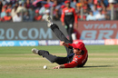Travis Head embraces the floor while fielding, Rising Pune Supergiant v Royal Challengers Bangalore, IPL 2017, Pune, April 29, 2017