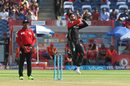 S Aravind jumps in to bowl, Rising Pune Supergiant v Royal Challengers Bangalore, IPL 2017, Pune, April 29, 2017