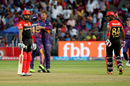 Stuart Binny walks back after holing out to a bouncer from Lockie Ferguson, Rising Pune Supergiant v Royal Challengers Bangalore, IPL 2017, Pune, April 29, 2017
