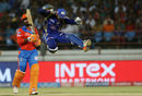Parthiv Patel is delighted after effecting a sharp stumping to dismiss Dinesh Karthik, Gujarat Lions v Mumbai Indians, IPL, Rajkot, April 29, 2017