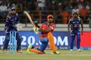 Ravindra Jadeja gets down to sweep, Gujarat Lions v Mumbai Indians, IPL, Rajkot, April 29, 2017