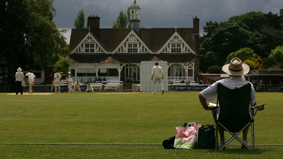 A spectator watches an Oxford game at The Parks
