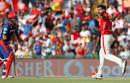 Varun Aaron sent back Delhi Daredevils' top-scorer Corey Anderson for 18, Kings XI Punjab v Delhi Daredevils, IPL 2017, Mohali, April 30