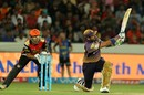 Robin Uthappa nails a sweep off Rashid Khan, Sunrisers Hyderabad v Kolkata Knight Riders, IPL 2017, Hyderabad, April 30, 2017