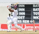 Kieran Powell plays a cut, West Indies v Pakistan, 2nd Test, Bridgetown,1st day, April 30, 2017