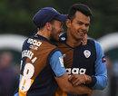 Shiv Thakor celebrates, Derbyshire v Leicestershire, NatWest T20 Blast, Derby, June 3, 2016