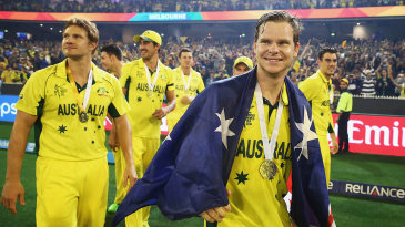 Australian players celebrate after the win