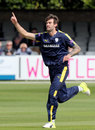 Reece Topley celebrates a wicket against his former county, Essex v Hampshire, Royal London Cup, South Group, Chelmsford, April 30, 2017