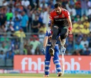 Aniket Choudhary showed off his high jump skills, Mumbai Indians v Royal Challengers Bangalore, IPL 2017, Mumbai, May 1, 2017