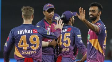 Jaydev Unadkat took three wickets in his last two overs