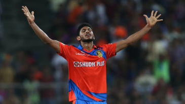 Basil Thampi rejoices after dismissing MS Dhoni