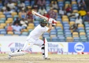 Ahmed Shehzad slices the ball through point, West Indies v Pakistan, 2nd Test, Bridgetown,2nd day, May 1, 2017