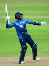 Daniel Bell-Drummond celebrates his century, Somerset v Kent, Royal London Cup, South Group, Taunton, May 2, 2017