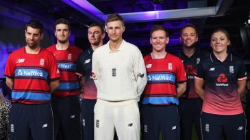 Players showcase the new England kits