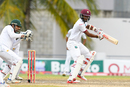 Kraigg Brathwaite plays a dab on the off side, West Indies v Pakistan, 2nd Test, Bridgetown, 3rd day, May 2, 2017