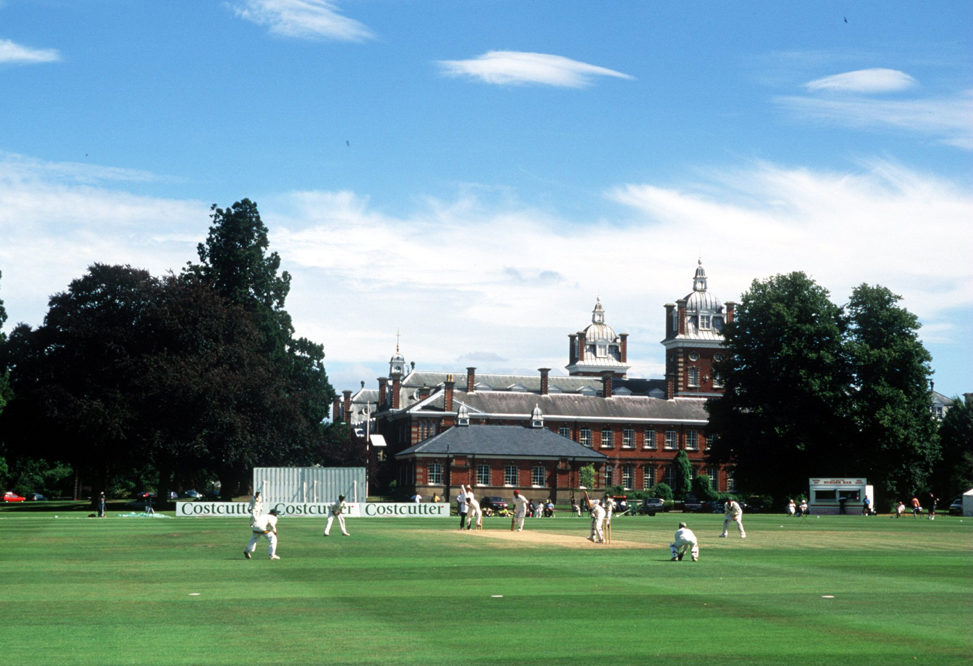 Given the tournament's tight finances, players stayed in dorm-style accommodation at Wellington College in Berkshire (pictured) and Surrey University