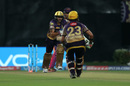 Sheldon Jackson trod on his stumps, Kolkata Knight Riders v Rising Pune Supergiant, IPL 2017, Kolkata, May 3, 2017