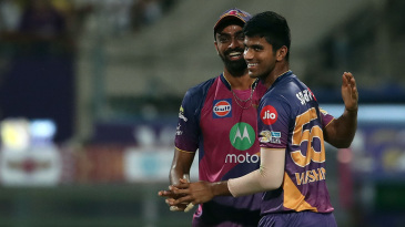 Washington Sundar is a happy man after getting Sheldon Jackson hit-wicket
