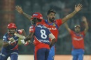 Pradeep Sangwan was pumped after dismissing Karun Nair, Delhi Daredevils v Gujarat Lions, IPL 2017, Delhi, May 4, 2017