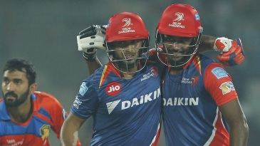 Sanju Samson and Rishabh Pant celebrate their mammoth partnership