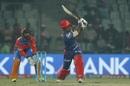 Sanju Samson smacks the ball, Delhi Daredevils v Gujarat Lions, IPL 2017, Delhi, May 4, 2017