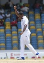 Shannon Gabriel celebrates after taking a wicket, West Indies v Pakistan, 2nd Test, Bridgetown, 5th day, May 4, 2017