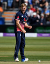 David Willey celebrates winning an lbw decision, England v Ireland, 1st ODI, Bristol, May 5, 2017