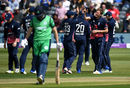 Andy Birbirnie fell to Jake Ball as England took a firm grip on the first ODI, England v Ireland, 1st ODI, Bristol, May 5, 2017